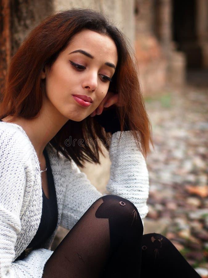 Piękna Marokańska dziewczyna w Padua zdjęcia royalty free