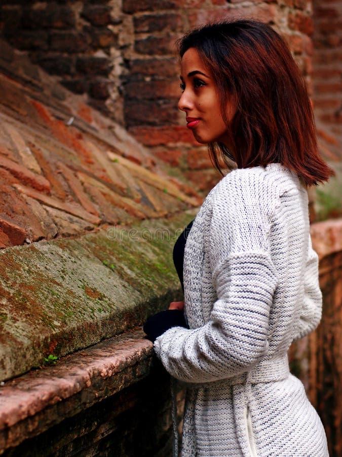 Piękna Marokańska dziewczyna w Padua zdjęcia stock