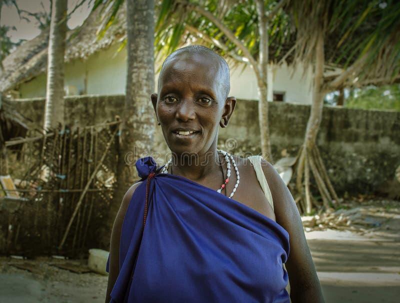 Piękna Masai kobieta zdjęcia stock