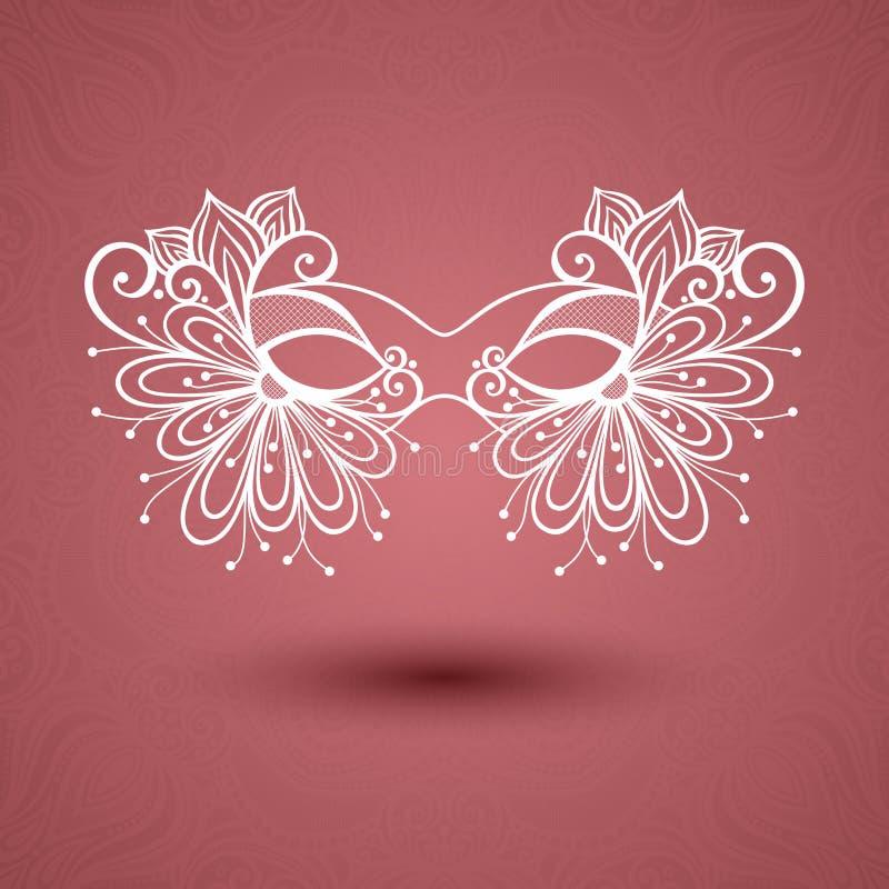 Piękna maskarady maska (wektor) ilustracji