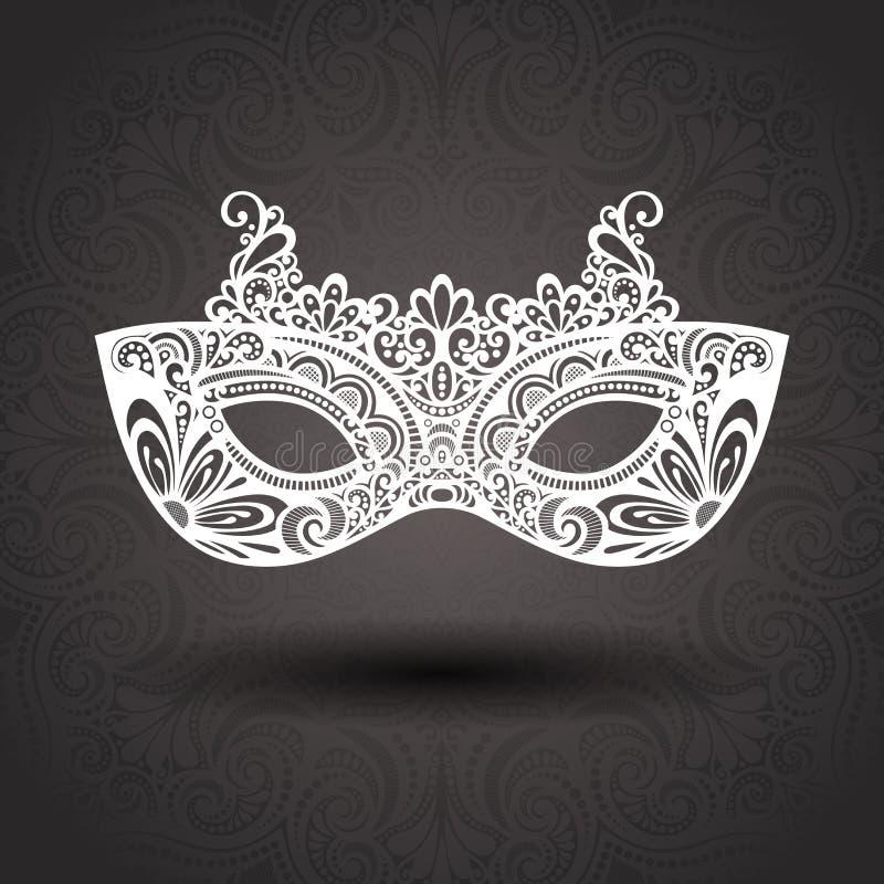 Piękna maskarady maska (wektor) royalty ilustracja