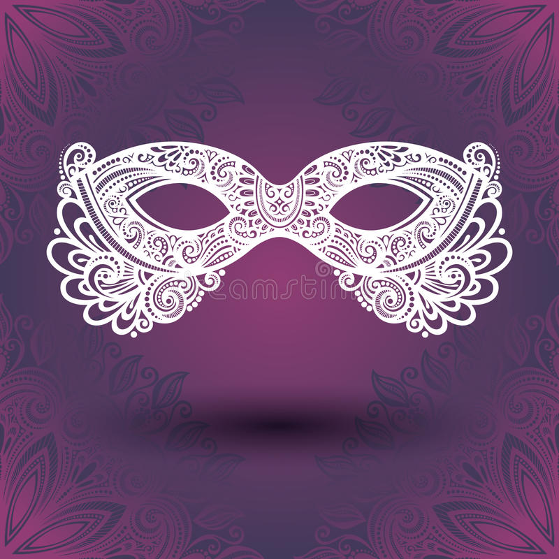 Piękna maskarady maska (wektor) ilustracja wektor