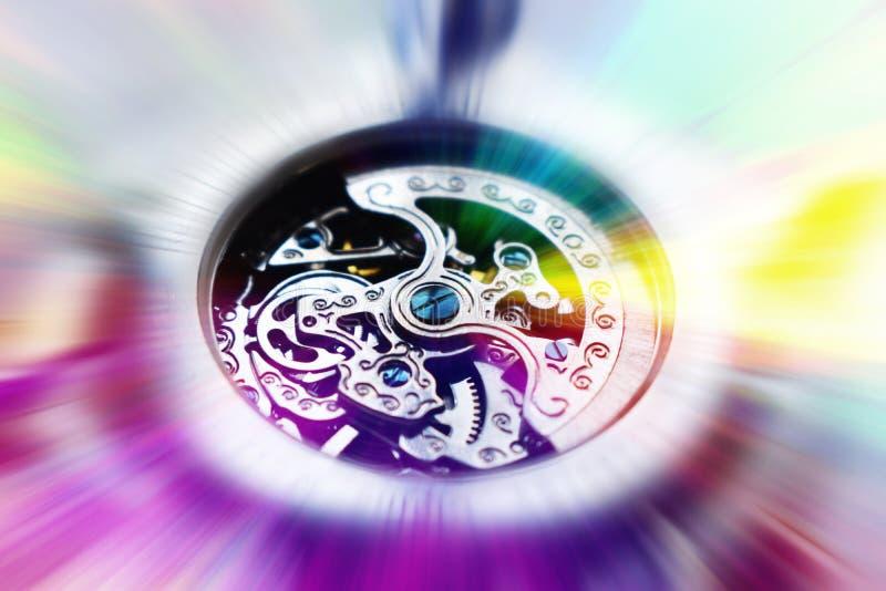 Piękna, mechaniczna czujka z wspaniałymi, abstrakcyjnymi kolorami zdjęcie royalty free