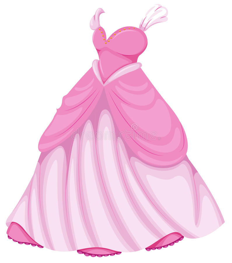 Piękna menchii suknia royalty ilustracja