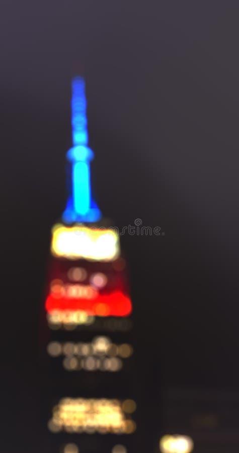 Piękna miasta światła zamazujący zdjęcie royalty free