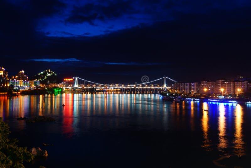 Piękna miasto nocy scena zdjęcie royalty free