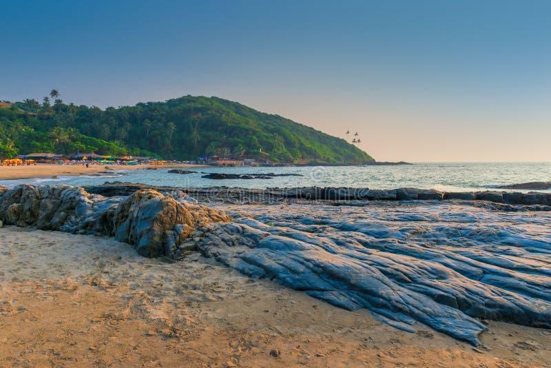 Piękna miejscowość nadmorska w Goa obrazy stock