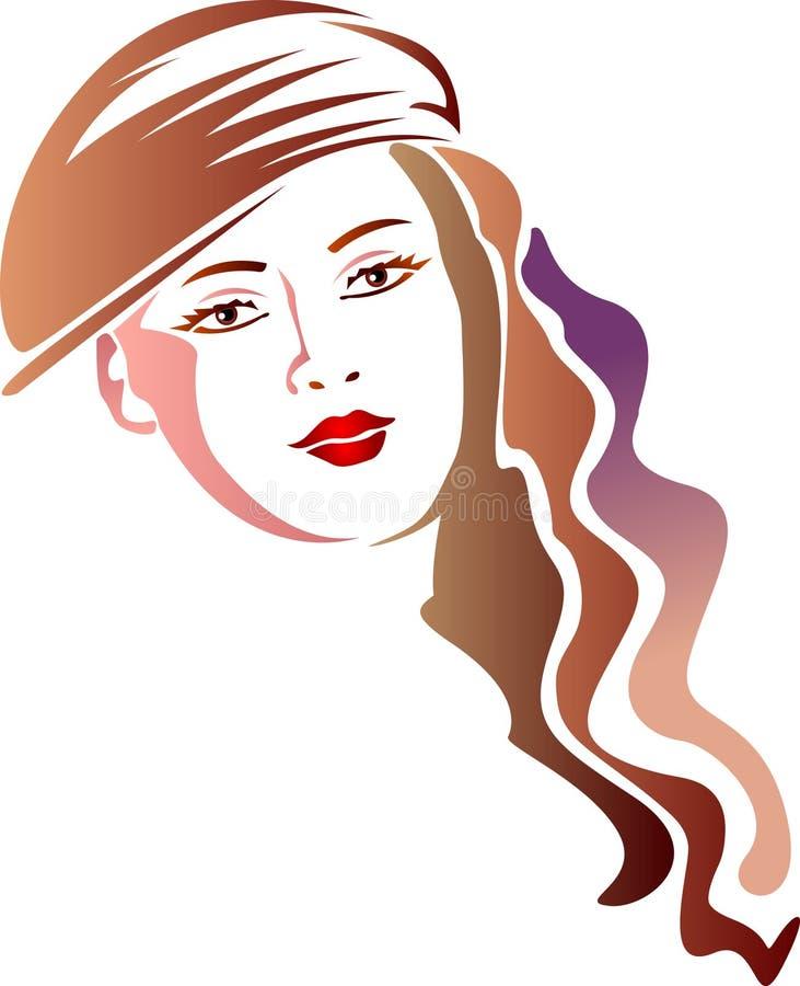 Piękna mody kobieta ilustracja wektor
