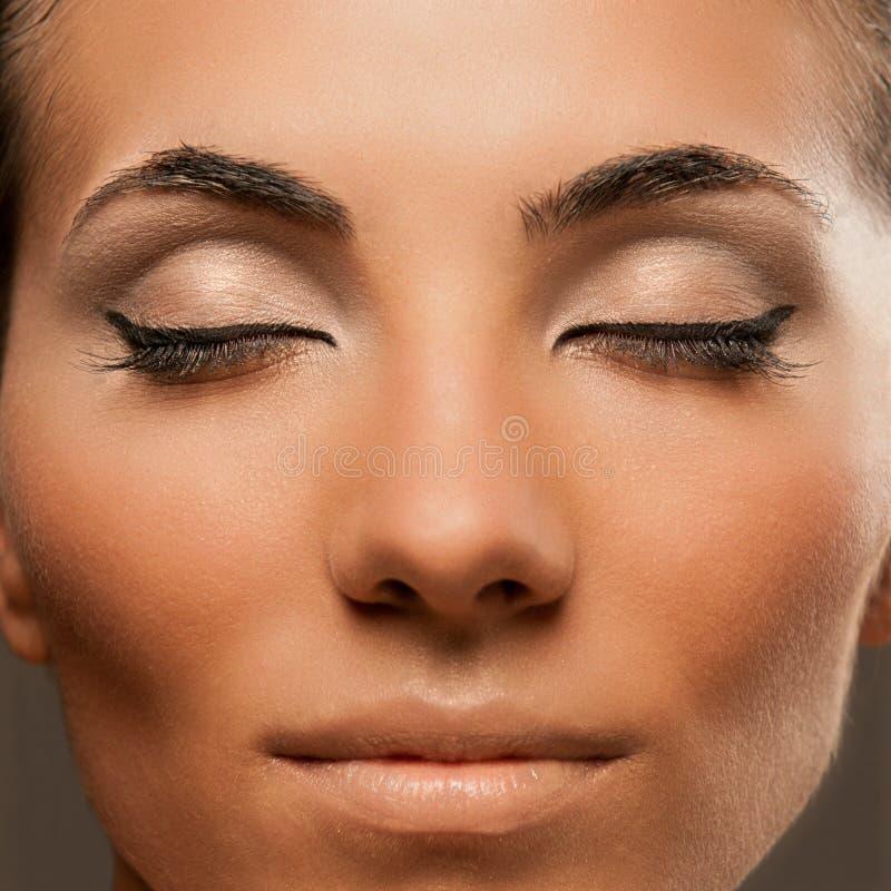 piękna mody makeup zdjęcie royalty free