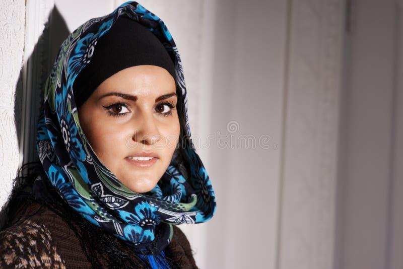 Piękna Muzułmańska dziewczyna obrazy royalty free
