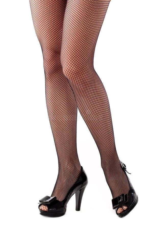 piękna nóg pończoch kobieta zdjęcie royalty free