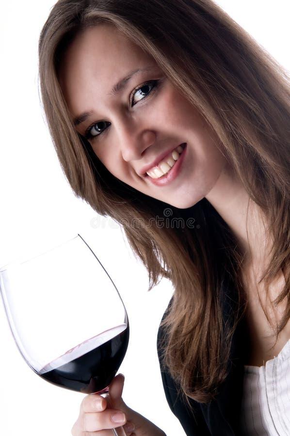 piękna napoju dziewczyny wino obrazy royalty free