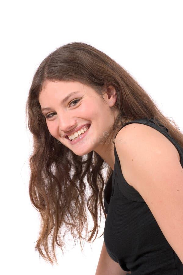 piękna nastolatek uśmiechasz obrazy royalty free