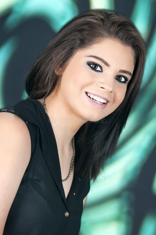 Piękna Nastoletnia brunetka zdjęcie stock