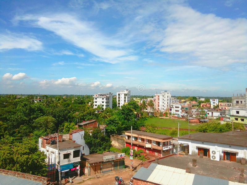 Piękna natura & x28; Naogaon, Rajshahi, Bangladesh& x29; zdjęcia stock