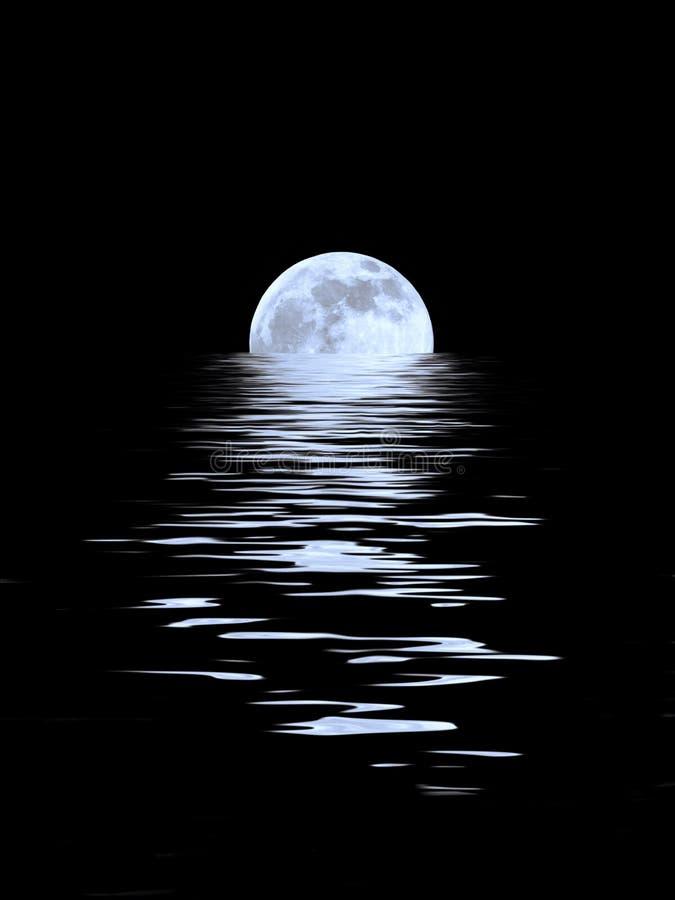 piękna niebieskiej księżyca zdjęcie stock
