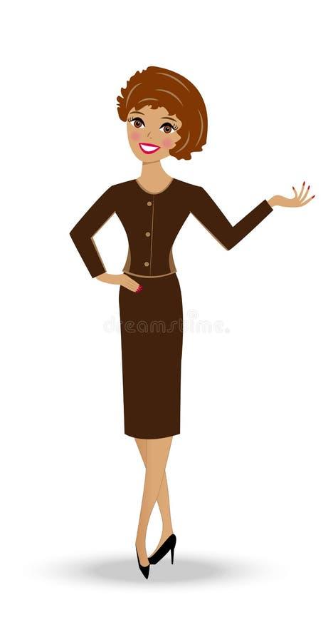 Piękna nikła kobieta w garniturze ilustracji