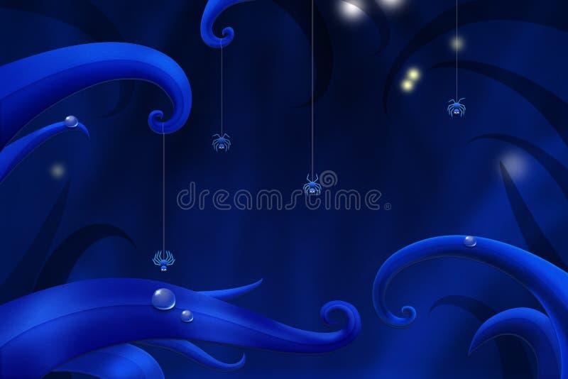 Piękna nocy scena ilustracja wektor
