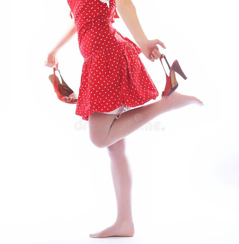 Piękna nogi kobieta zdjęcie royalty free