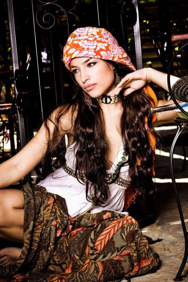 piękna odzieżowa orientalna kobieta obrazy stock
