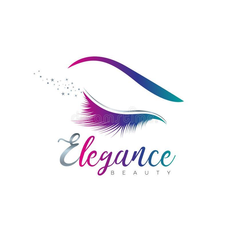 Piękna oka elegancji logo znaka symbolu ikona royalty ilustracja