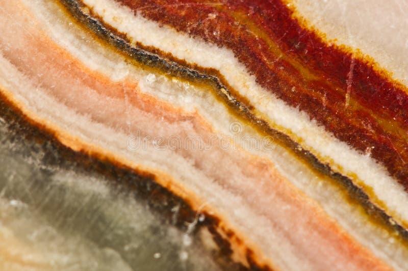 Piękna Onyksowa kryształ powierzchnia Makro- Naturalny kopalny backgroun zdjęcie stock