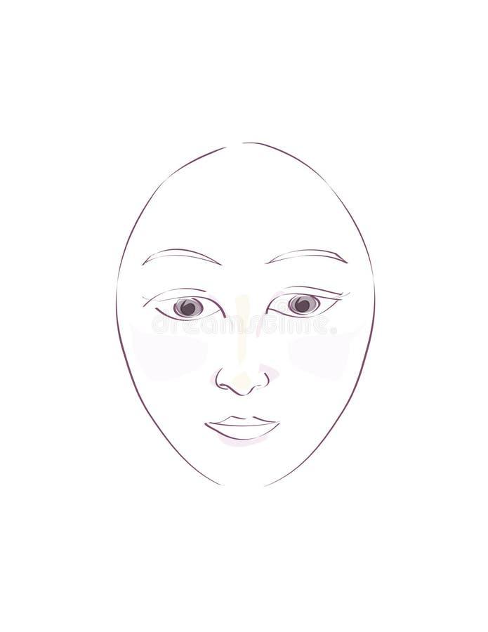 Piękna orientalna twarz obrazy stock