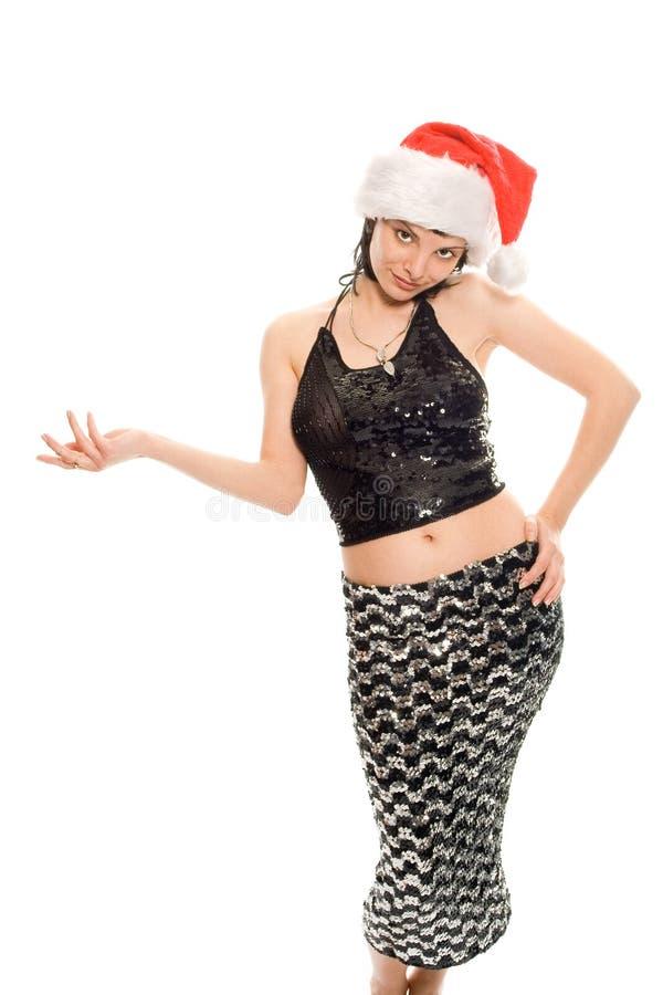 piękna pani Santa Claus zdjęcia stock