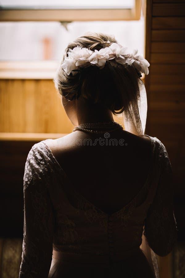 piękna panna młoda portret zdjęcie stock