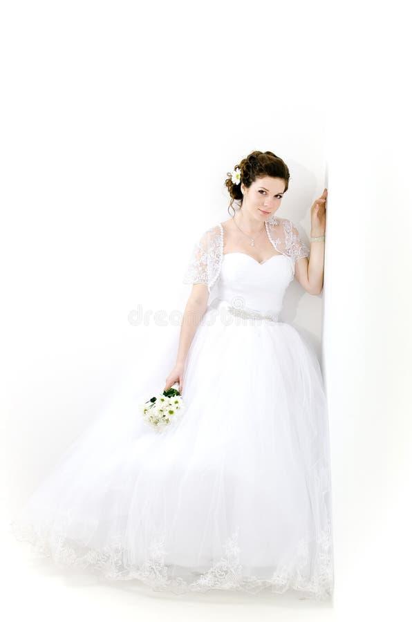 piękna panna młoda portret smokingowy czerepu rozkazu ślub zdjęcia royalty free