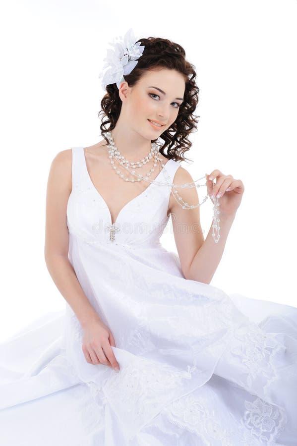 piękna panny młodej sukni ślubu biel fotografia royalty free