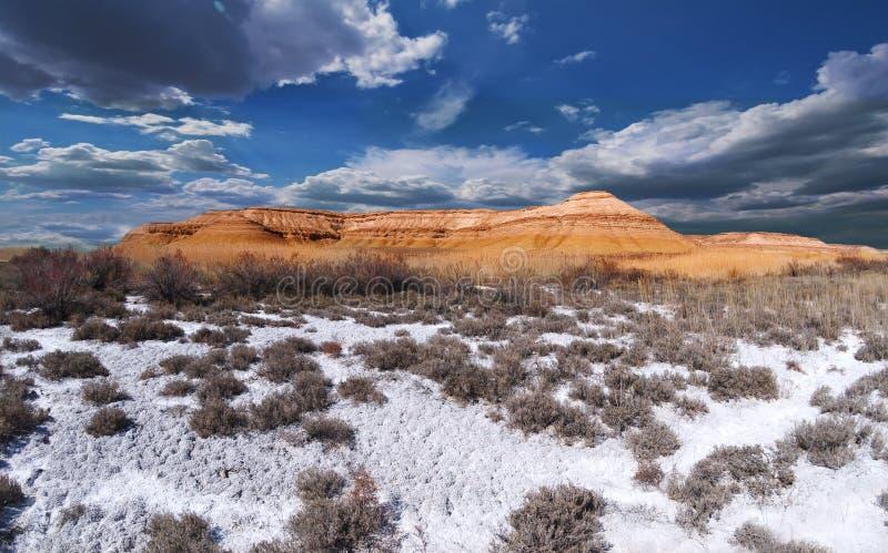 piękna panorama malowniczy Ustyurt fotografia royalty free