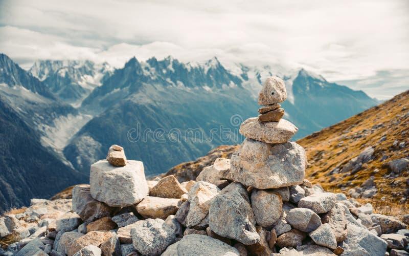 Piękna panoramiczna natura w górach fotografia stock