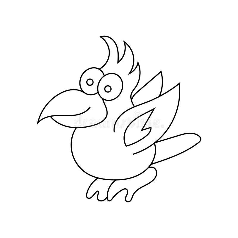 Piękna papuga w liniowym stylu dzieci target2003_1_ ilustracji