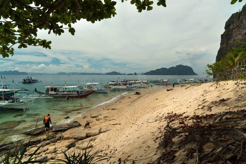 Piękna plaża - - El Nido, Palawan, Filipiny - fotografia stock