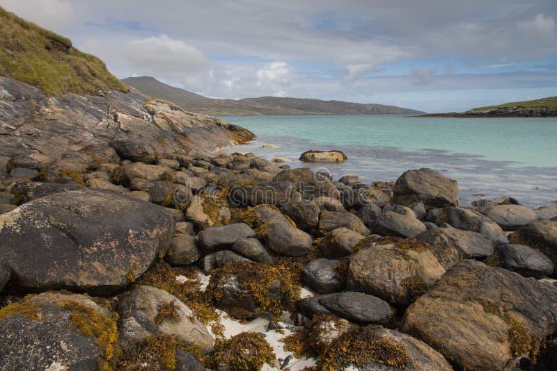 Piękna plaża na Wyspie Barra fotografia royalty free