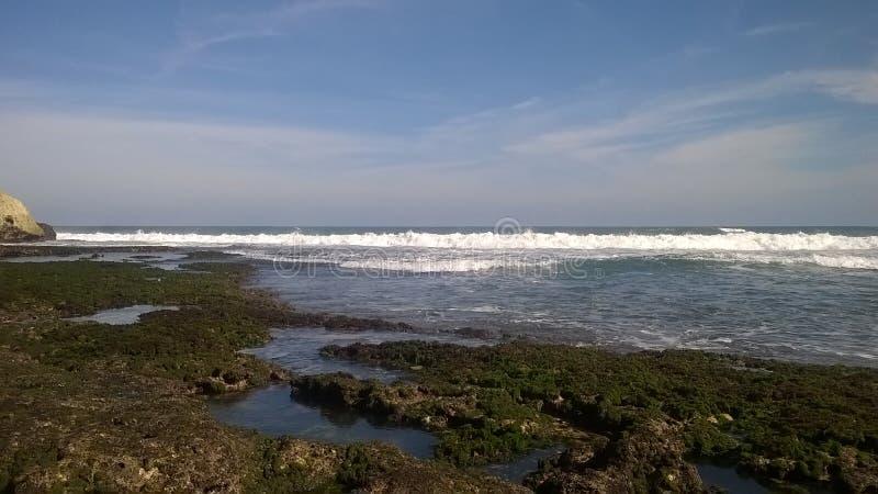 Piękna plaża, niebo w świacie, raj Gubjący, fotograficzny, panoramicznym zdjęcie stock