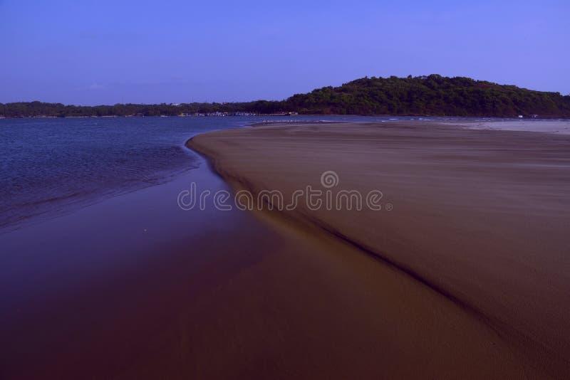 Piękna plaża od goa ind obraz royalty free
