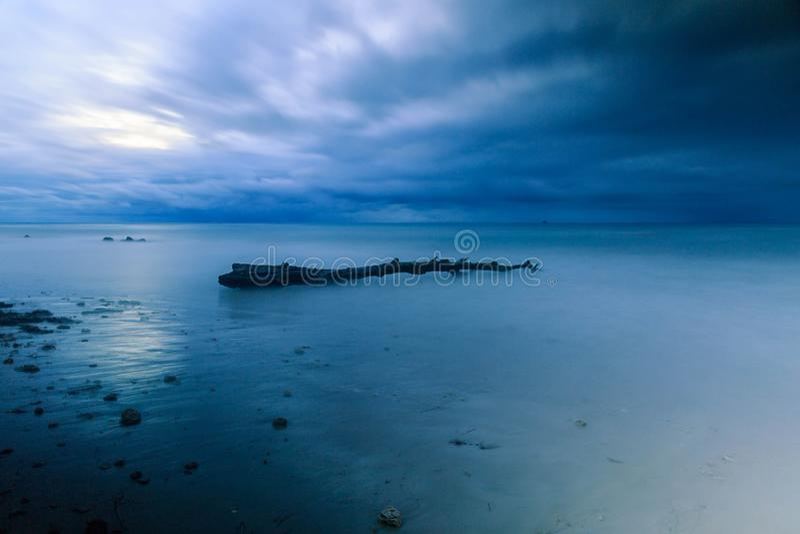 Piękna plaża przy Labuan Malezja 02 zdjęcia stock