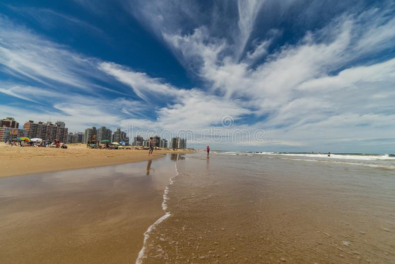 Piękna plaża Punta Del Este, Urugwaj obrazy royalty free