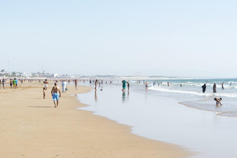 Piękna plaża w Agadir obraz stock