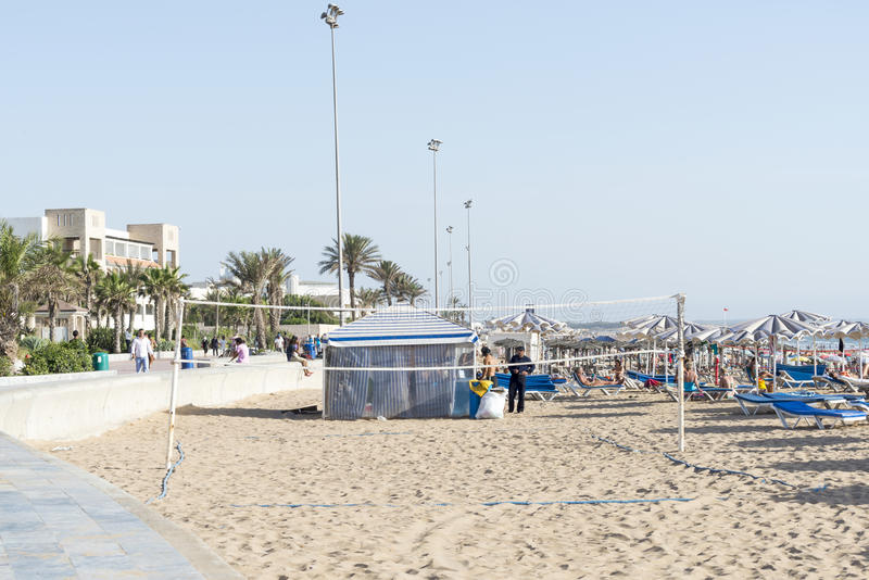 Piękna plaża w Agadir zdjęcia royalty free