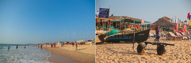 Piękna plaża w Candolim obrazy royalty free
