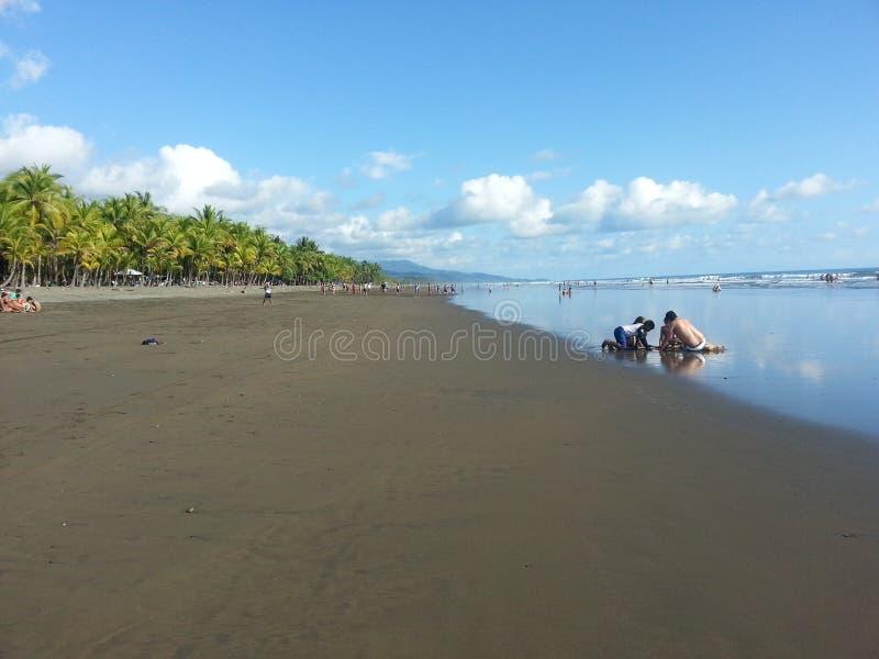 Piękna plaża w Costa Rica zdjęcie royalty free