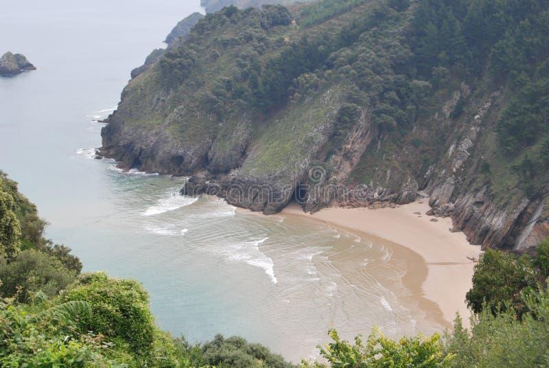 Piękna plaża w formie zatoczki obraz royalty free