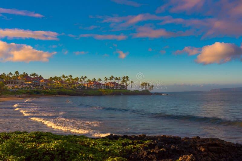 Piękna plaża w Maui Hawaje zdjęcia stock