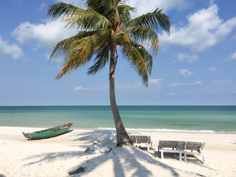 Piękna plaża w Phu Quoc wyspie obraz royalty free