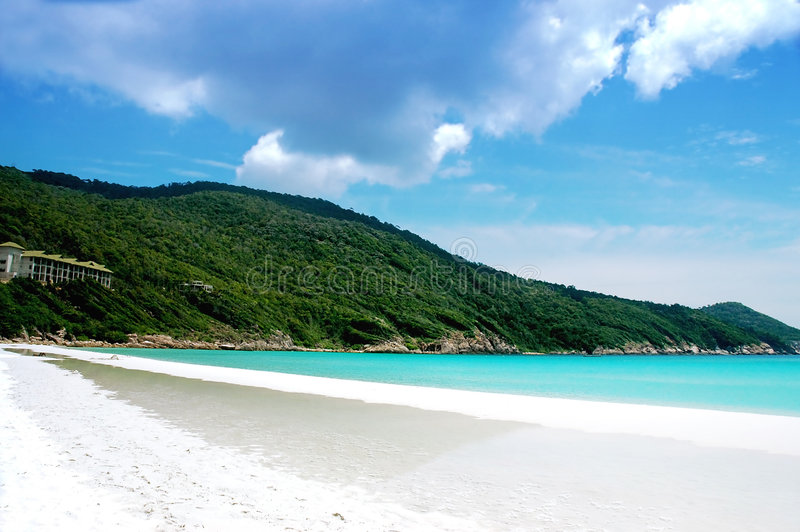 piękna plażowa otoczenia zdjęcie royalty free