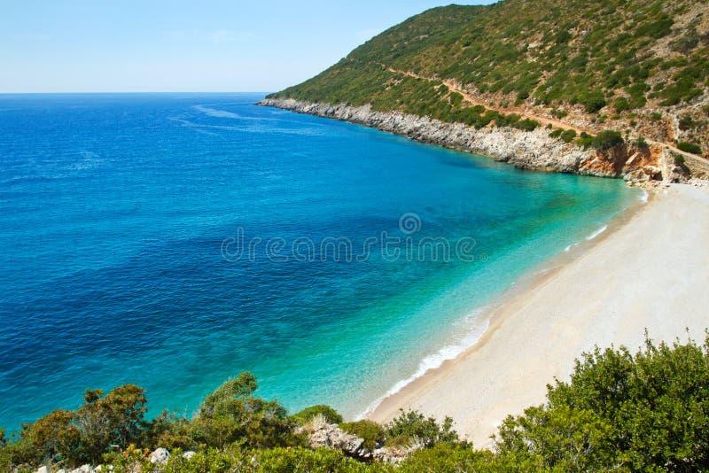 Piękna pogodna plaża obraz royalty free