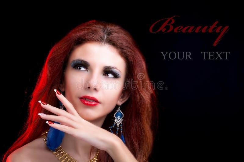 Piękna portret mody kobieta fotografia stock